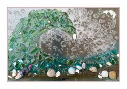 The image for NEW! Glass Art - Ocean Waves (Seascape)
