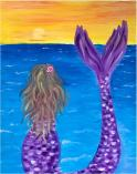 The image for KIDS ART CAMP - Mermaid and the Sunset - Painting on canvas