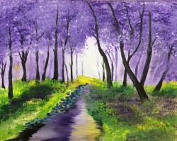 The image for Creek with purple trees