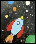The image for KIDS ART CAMP - Space Shuttle - Painting on canvas