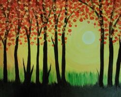 The image for Sunny Red Forest - $25 ONLY - October special