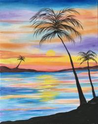 The image for Sunset at Paradise Bay - New Painting