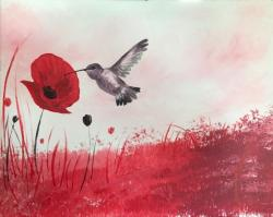 The image for Hummingbird & Poppies