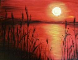 The image for cattail sunset